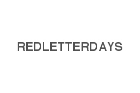 15% off RED LETTER DAYS